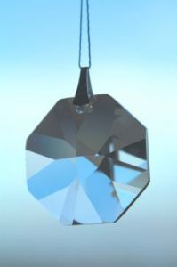 Crystal~Octagon 20 Clear Swarovski Rainbow Hanging Crystal-A stunning array of dancing light